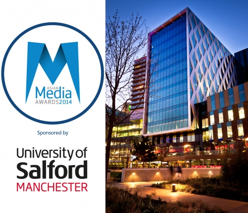 University Of Salford Are Premier Sponsors At Asian Media Awards 2014