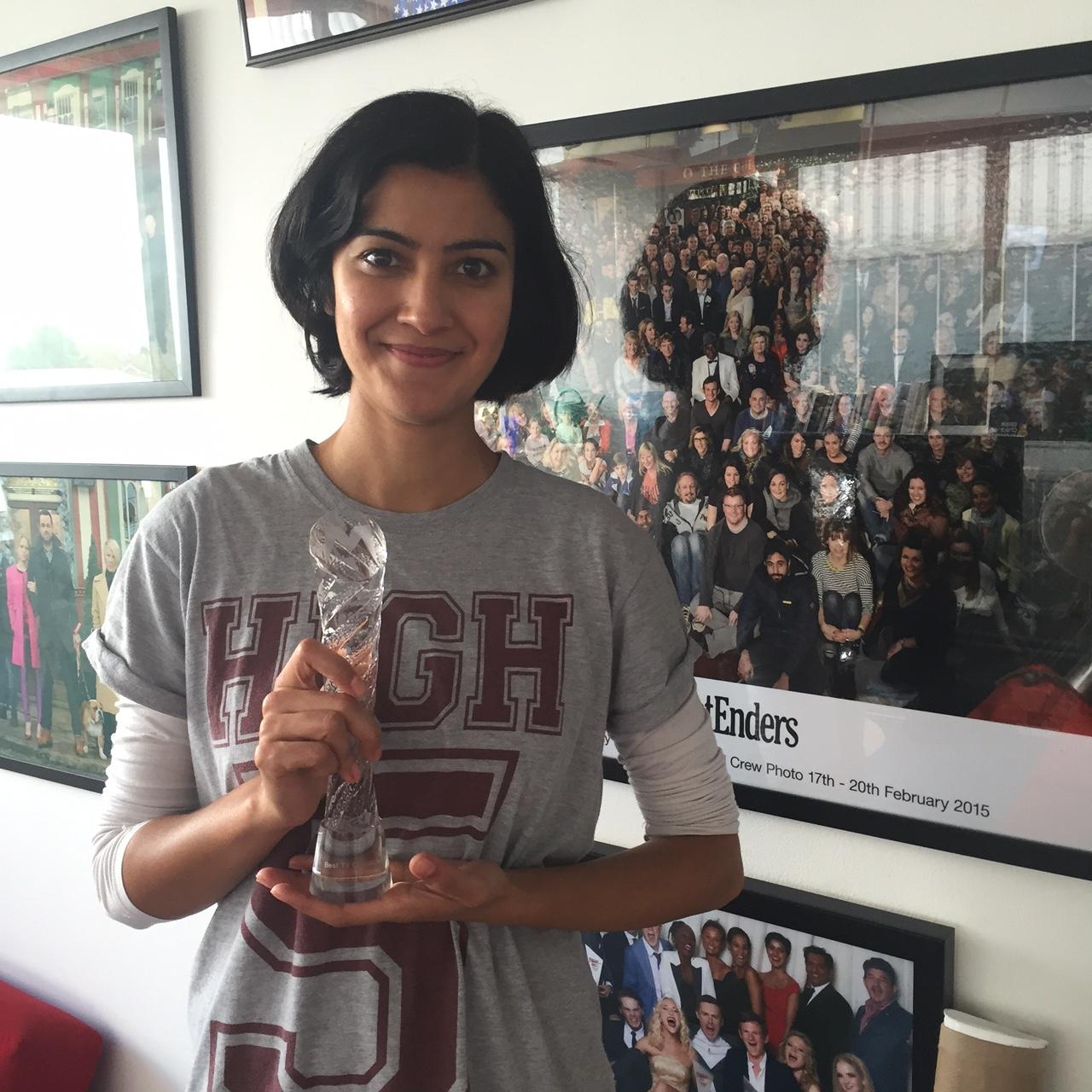 Rakhee Thakrar Wins Best TV Character Award