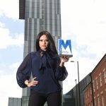 Afshan Azad with new Asian Media Award at the Hilton Manchester Deansgate 09