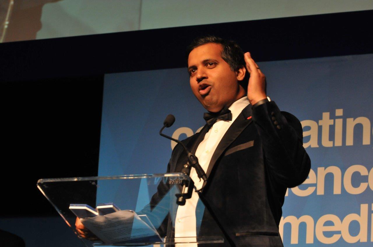 Faisal Islam on stage