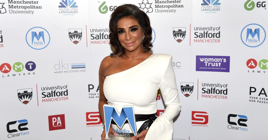 Shobna Gulati Presented Sophiya Haque Services to British Television & Film Award