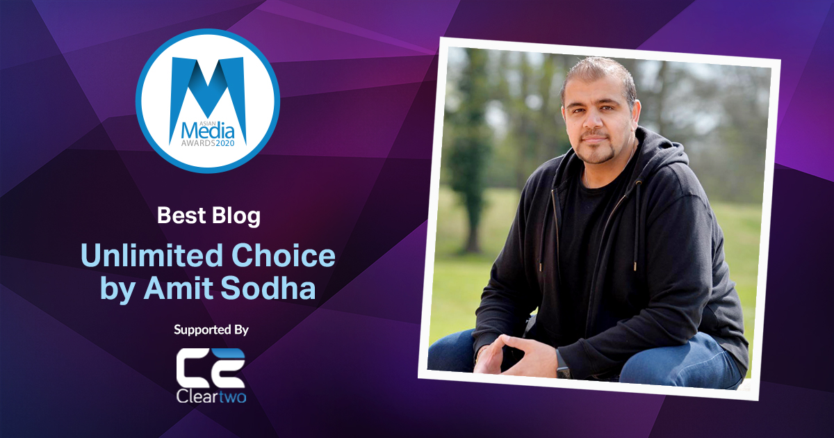 Unlimited Choice by Amit Sodha is Best Blog 2020