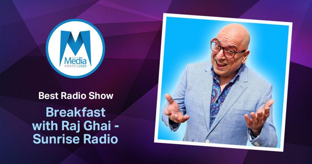 Breakfast with Raj Ghai Wins Best Radio Show 2020 Award