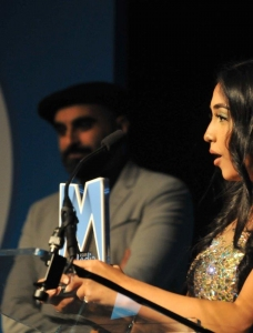 Duaa Kairm was presented AMA Best Newcomer by co-star Tez Ilyas