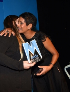Naga Munchetty accepted the award from amabassadors of the charity CLIC Sargent