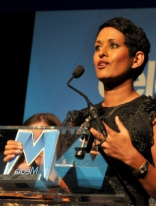 Naga Munchetty on stage