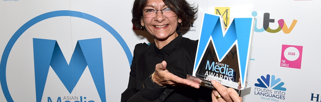 Shelley King honoured with Outstanding Contribution to Media Award