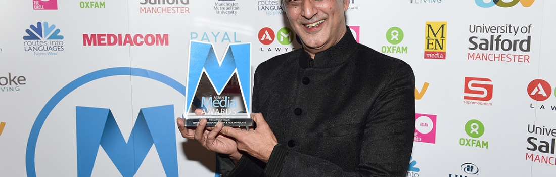 Art Malik presented with Sophiya Haque Services to British Television & Film Award